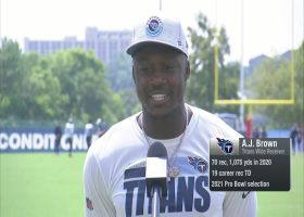 A.J. Brown reveals how he recruited new teammate Julio Jones to Titans