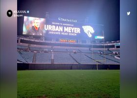 First look: Urban Meyer in Jags colors on TIAA Bank Field jumbotron