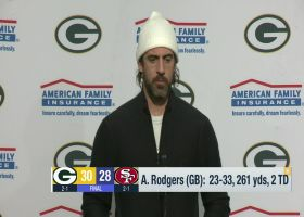 Rodgers on 'SNF' win: It felt like 'we finally had the energy that I've been waiting to see'