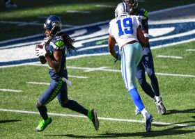 Shaquill Griffin locks down Amari Cooper, jumps throw for INT