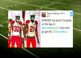 Patrick Peterson reacts to Budda Baker's record-extension