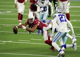 Larry Fitzgerald stretches for heads-up third-down pickup