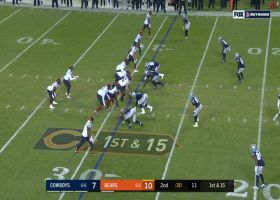 Zip Trubisky! QB fits pass into airtight window for 21 yards