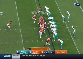 Dolphins strip Melvin Gordon near goal line for CLUTCH turnover