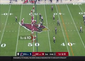 Kyler Murray is simply ridiculous on scrambling pass to DeAndre Hopkins