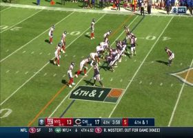 315-pound Massie makes CLUTCH fourth-down grab for Bears off deflection