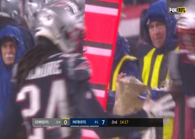 Stephon Gilmore dives for INSANE INT covering Amari Cooper in the rain