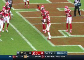 Chiefs defense celebrate after an interception