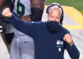 Pete Carroll dances after Seahawks recover Hopkins' fumble
