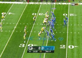 Stafford's 21-yard laser hits Sanu perfectly on chest