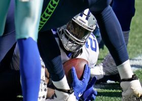 Seahawks score safety after Zeke stumbles in Cowboys' end zone