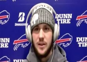 Josh Allen reacts to Bills' win over Ravens in Divisional Round