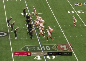Matt Breida filters through Saints' D for big 28-yard gain