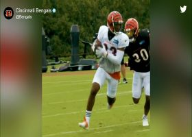 Camp highlight: Tyler Boyd shakes Jessie Bates for smooth grab
