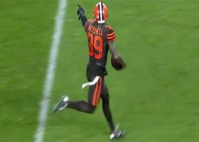 Terrance Mitchell ices Browns' win with crucial INT