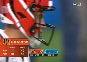 Jerry Jacobs jars football loose with big hit on Mixon