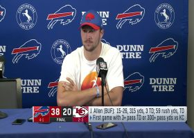 Josh Allen reacts to 'SNF' win over Chiefs