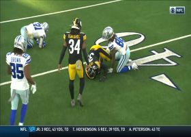 Sutton's peanut punch turns into Steelers turnover before halftime