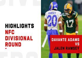 Best Davante Adams vs. Jalen Ramsey plays | NFC Divisional Round