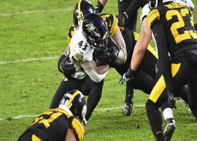 Justice Hill slices through Steelers' front on elusive third-and-long run