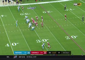 Kyle Allen delivers perfect fadeaway TD lob to Olsen for TE's second score
