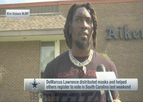 DeMarcus Lawrence distributes masks, helps citizens register to vote