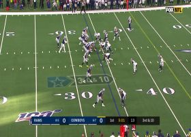 Dak executes scramble drill with 19-yard completion to Amari Cooper
