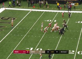 Deonte Harris breaks through defenders on 25-yard punt return
