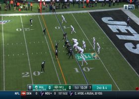 Fitzpatrick throws a dart to sliding Hurns for 17 yards
