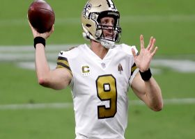Brees shows fantastic touch on 17-yard loft to rookie Adam Trautman