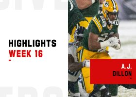 A.J. Dillon's top runs from first 100-yard game of his career | Week 16