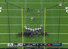 Kai Forbath's first FG with Patriots splits the uprights