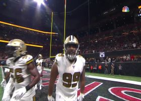 Can't-Miss Play: Saints DT's FEROCIOUS stiff-arm sends Ryan flying after INT