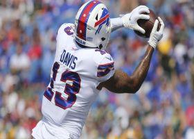 Gabriel Davis swipes past CB on 22-yard catch and run