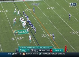 Fitzpatrick swarmed by host of Giants defenders for big third-down sack