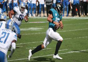 Minshew puts open-field move on LB for scrambling third-down TD