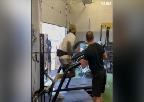 OBJ hits the treadmill HARD in offseason workout