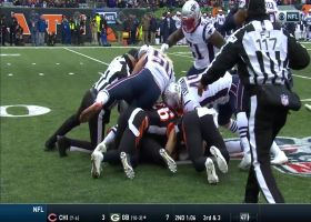 Patriots pounce on a major muffed punt by Bengals
