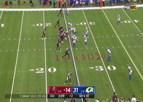 Brady rips fastball through airtight window to Johnson for 23 yards