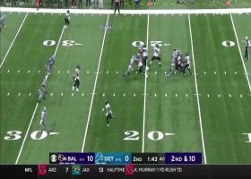Lamar Jackson improvises for sideline laser to toe-tapping James Proche