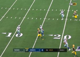 Rodgers rips throw over the middle to Allison for big third-down catch and run