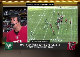 Matt Ryan reacts to passing Eli Manning for most pass yards in NFL history