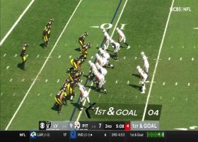 Derek Carr is slow to get up after TD dime to Foster Moreau