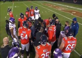Bears rally around Foles before he's carted into the locker room