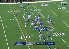 Cole Beasley gets helmet taken off on speedy 16-yard catch