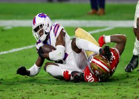 Tre'Davious White rips ball from Jeff Wilson for goal-line INT
