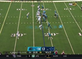 Darnold locates Moore open underneath for speedy 39-yard catch and run