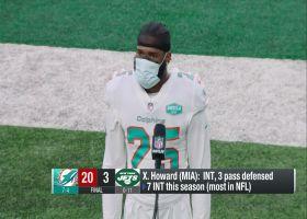 Xavien Howard reacts to Week 12 win vs. Jets