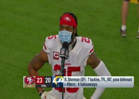 Richard Sherman reacts to 49ers' win over Rams in Week 12