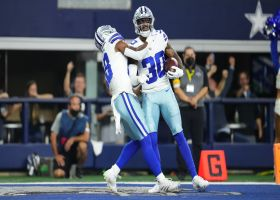 Brown comes down with Hurts' under-thrown deep ball for goal-line INT